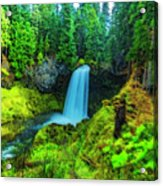 Koosa Falls, Oregon Acrylic Print