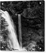Sahalie Falls No. 4 Bw Acrylic Print