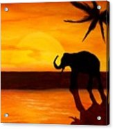 Sahara Susnet Acrylic Print