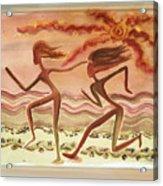 Saharan Runners Acrylic Print