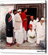 Sai With Dengle Patil At Nimgaon Acrylic Print