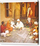Saibaba Serves Food To Village People Acrylic Print