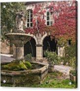 Saignon Fountain Provence  Acrylic Print