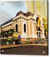 Saigon's Opera House Vietnam Acrylic Print