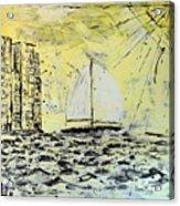 Sail And Sunrays Acrylic Print