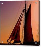 Sail At Sunset Acrylic Print