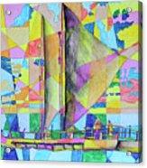 Sail Away Sunset Acrylic Print