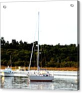 Sail Boat At Anchor  Acrylic Print