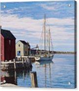 Sail Boat At Rockport Acrylic Print