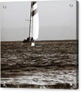 Sail Boat Coming Ashore 2 Acrylic Print