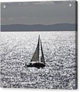 Sail Boat In A Sea Of Diamonds  Acrylic Print