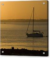 Sail Boat Sunset Acrylic Print
