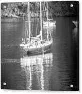 Sail Boat Yaht Parked At Harbor Bay Acrylic Print