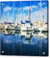 Sail Boats In Port Acrylic Print
