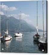 Sail Boats, Lake Como, Italy Acrylic Print