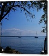 Sail Boats On The Bay Acrylic Print