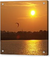 Sail In The Sunset Acrylic Print