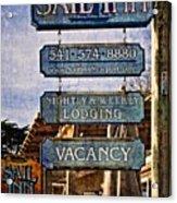 Sail Inn Acrylic Print