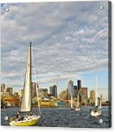 Sail On Seattle Acrylic Print