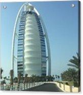 Sail-shaped Silhouette Of Burj Al Arab Jumeirah  Acrylic Print
