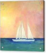 Sailboat - Regatta Of One Acrylic Print