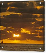 Sailboat As The Sun Sets Acrylic Print