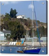 Sailboat At Anchor In Harbor Acrylic Print