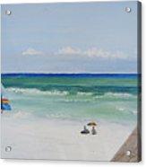 Sailboat At Blue Mountain Beach Acrylic Print