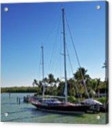 Sailboat At Royal Harbor Acrylic Print