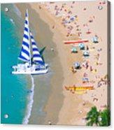 Sailboat At Waikiki Acrylic Print