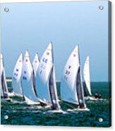 Sailboat Championship Regatta Acrylic Print