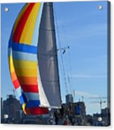 Sailboat In Seattle Acrylic Print