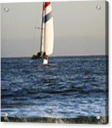 Sailboat Coming Ashore 1 Acrylic Print