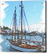 Sailboat Docked In Camden Acrylic Print