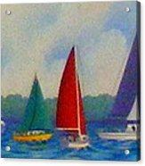Sailboat Fiesta II Acrylic Print