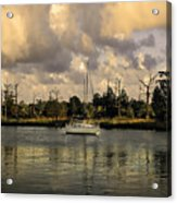 Sailboat In Georgetown Acrylic Print