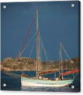 Sailboat In Iona Bay Acrylic Print