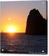 Sailboat In The Sunset Cabo San Lucas Mexico Acrylic Print