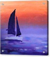 Sailboat Large 2015 Acrylic Print