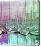 Sailboat Lineup - Watercolor Acrylic Print
