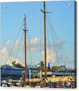 Sailboat, Mast, And Sails Acrylic Print