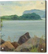 Sailboat Near Croton Landing Acrylic Print