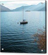Sailboat On Lake Maggiore Acrylic Print