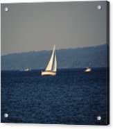 Sailboat On Seneca Lake Acrylic Print