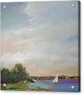 Sailboat Painting Meet You There Acrylic Print