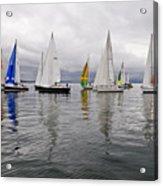 Sailboat Race Seattle Acrylic Print
