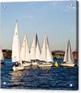 Sailboat Racing Acrylic Print