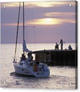 Sailboat Setting Out From Bayfield Acrylic Print