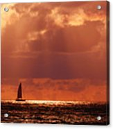 Sailboat Sun Rays Acrylic Print