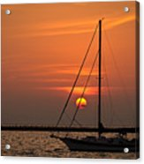 Sailboat Sunrise Chicago Acrylic Print